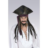 797a62f9bec Product Image Captain Jack Sparrow Hat With Dreadlocks Pirates of the  Caribbean Costume Movie