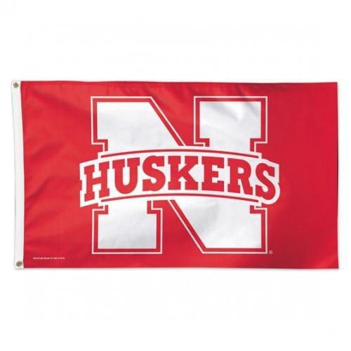 University of Nebraska Cornhuskers Deluxe Grommet Flag NCAA Licensed 3' x 5'