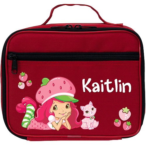 Personalized Strawberry Shortcake and Custard Super Sweet Red Lunch Bag