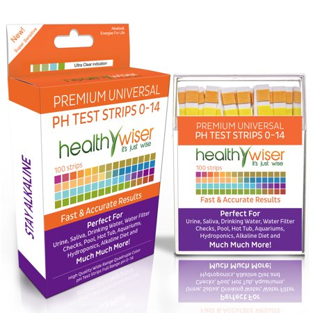Ph Test Strips 0 14  Universal Strips To Test Urine  Saliva  Water  Pool  Hot Tub  Hydroponics  Garden Soil  And More