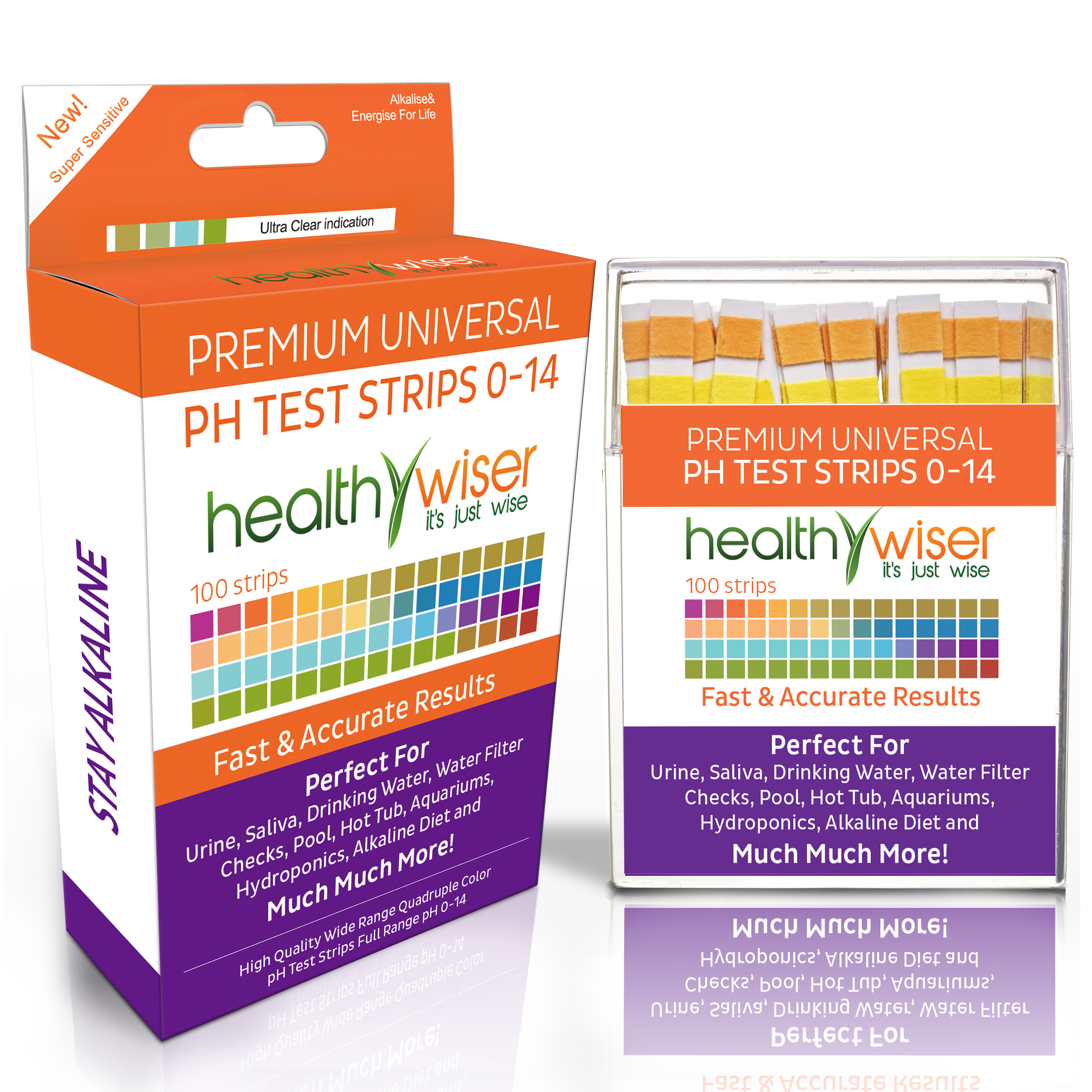 pH Test Strips 0-14, Universal Strips To Test Urine, Saliva, Water, Pool, Hot Tub, Hydroponics, Garden Soil, and More!