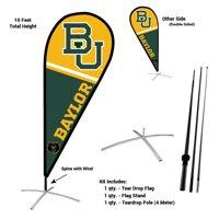 Baylor University Bears Teardrop Flag Pole and Stand Kit