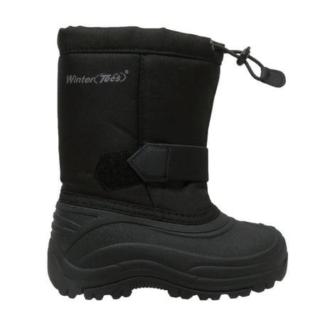 Children's Nylon Winter Boots Black