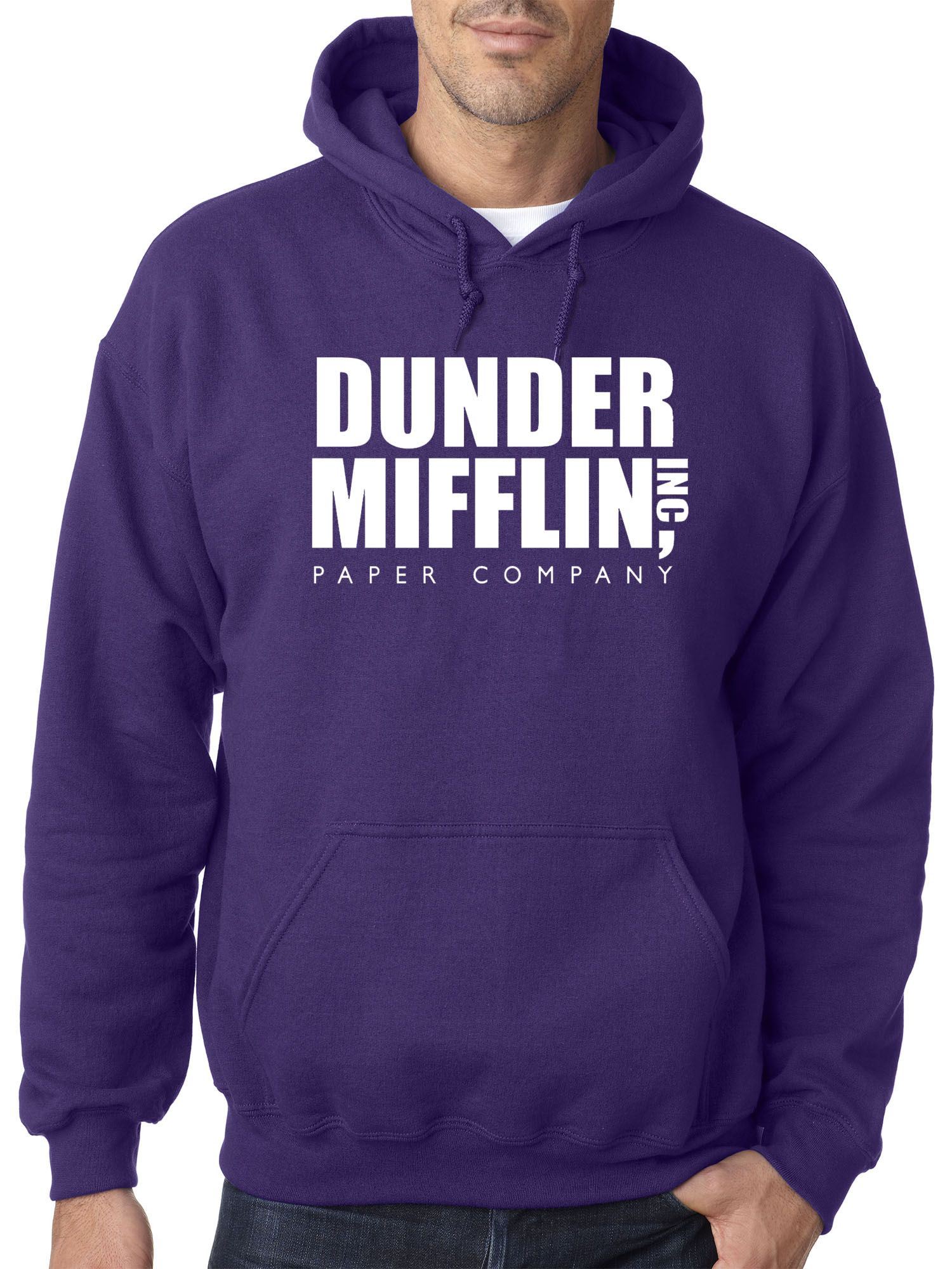 New Way 872 - Adult Hoodie Dunder Mifflin Inc Paper Company Office Logo Sweatshirt Small Red
