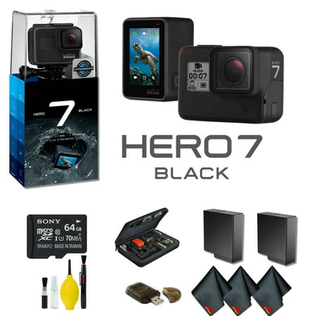 Ipod Extra Battery - GoPro HERO7 Black Action Camera With Extra Battery, External Charger, 64GB Memory Card, Case Plus More - Extra Battery Bundle