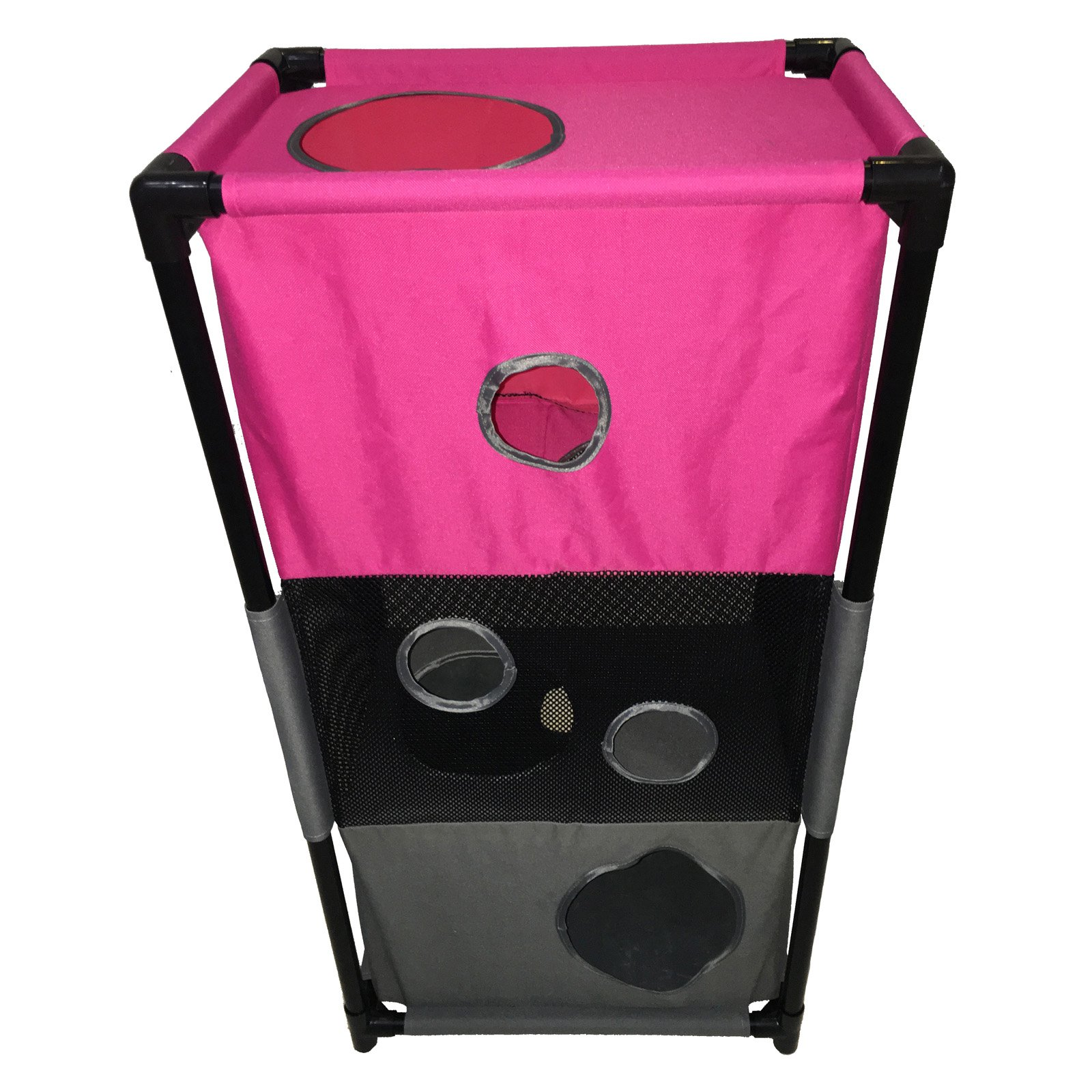 Pet Life Kitty-Square Obstacle Play-Active Collapsible Cat House