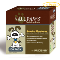 Precision Pet ValuPaws Training Pads 22 Long x 22 Wide (100 Pack) - Pack of 4