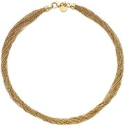 18kt Gold-Plated Multi-Strand Faceted Necklace