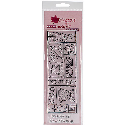 "Woodware Clear Stamps 8""x2.75"" Sheet-noe"