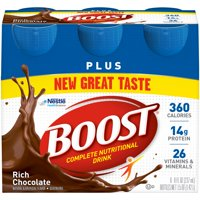 BOOST PLUS Rich Chocolate 6-8 fl. oz. Bottles