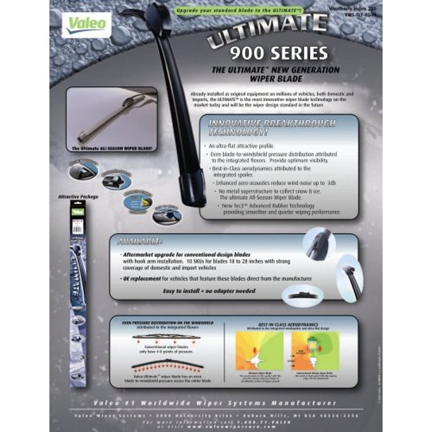 Valeo 900221b Frameless Ultimate 22 All Season Oe Replacement