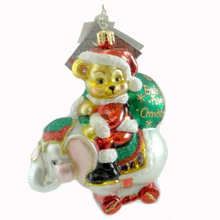 Christopher Radko Dillards Baby Its You Glass Elephant First Christmas