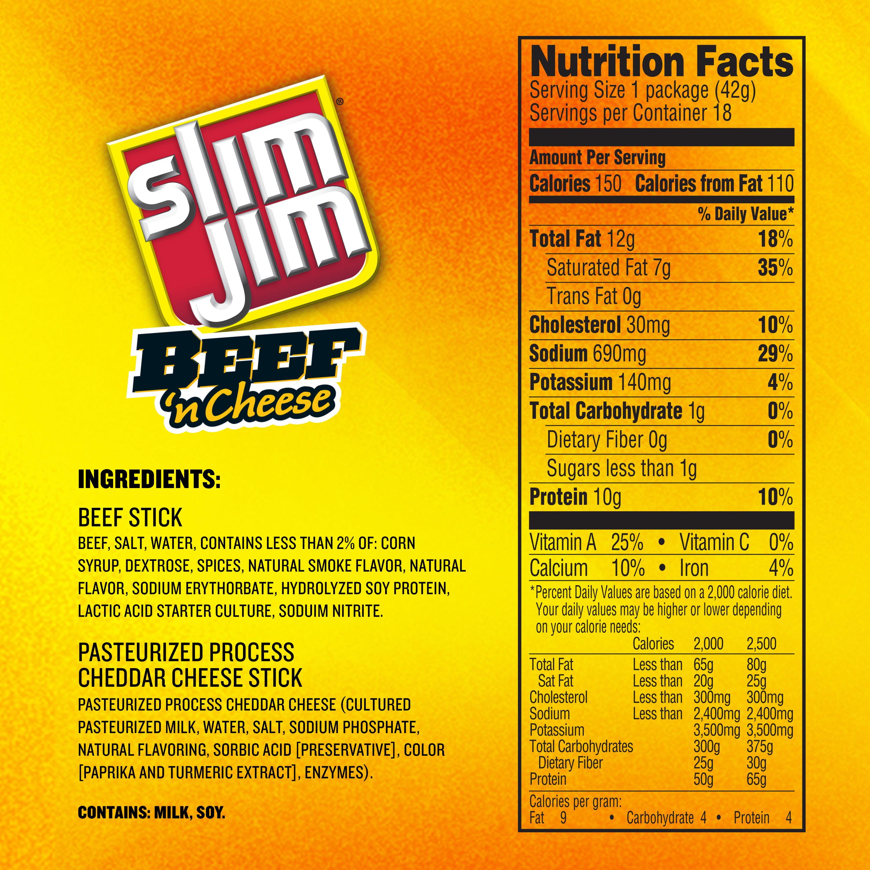 Slim Jim Beef and Cheese Stick Mild