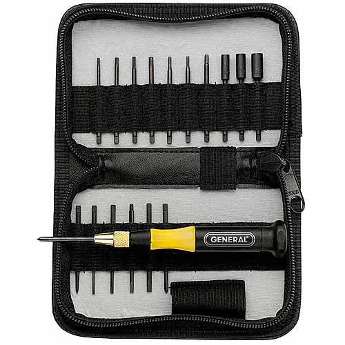 General Tools 63518 18-Piece Precision UltraTech Screwdriver Set