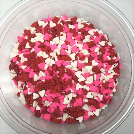 Valentine Heart Shapes Red/White/Pink Bakery Topping Sprinkles 1 pound](Glitter Sprinkles)