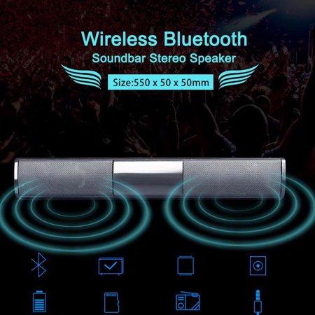 VicTsing Wireless Bluetooth Soundbar Speaker TV Home Theater Soundbar Subwoofer (Size: 550 × 50