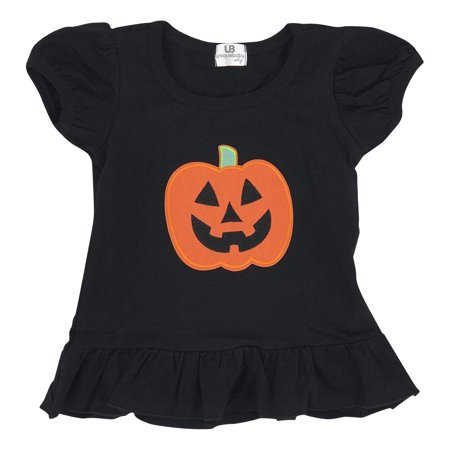 Unique Baby Girls Halloween Pumpkin Shirt (18 Month)