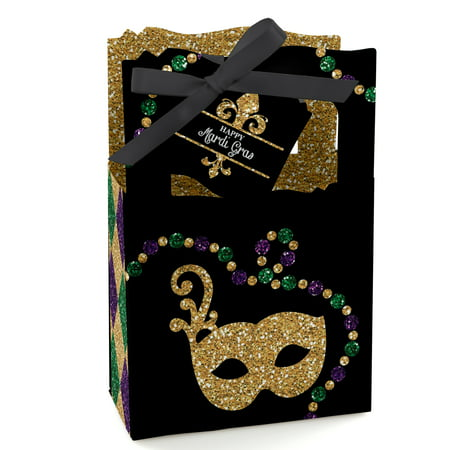 Mardi Gras - Masquerade Party Favor Boxes - Set of 12](Mardi Gras Clearance)