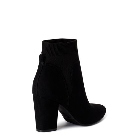 Women's Time and Tru Heeled Knit Bootie