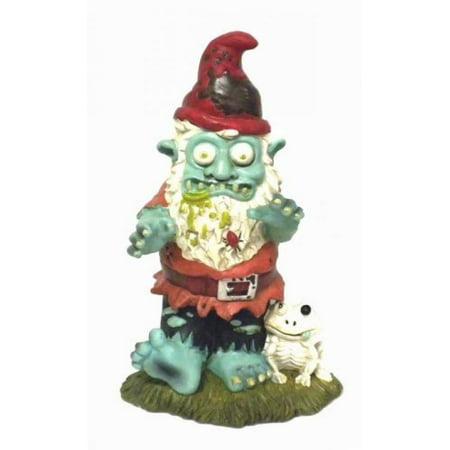 Fun Express Creepy Halloween Dead Walking Zombie Gnome Garden Statue Sculpture](Halloween Garden Gnomes)