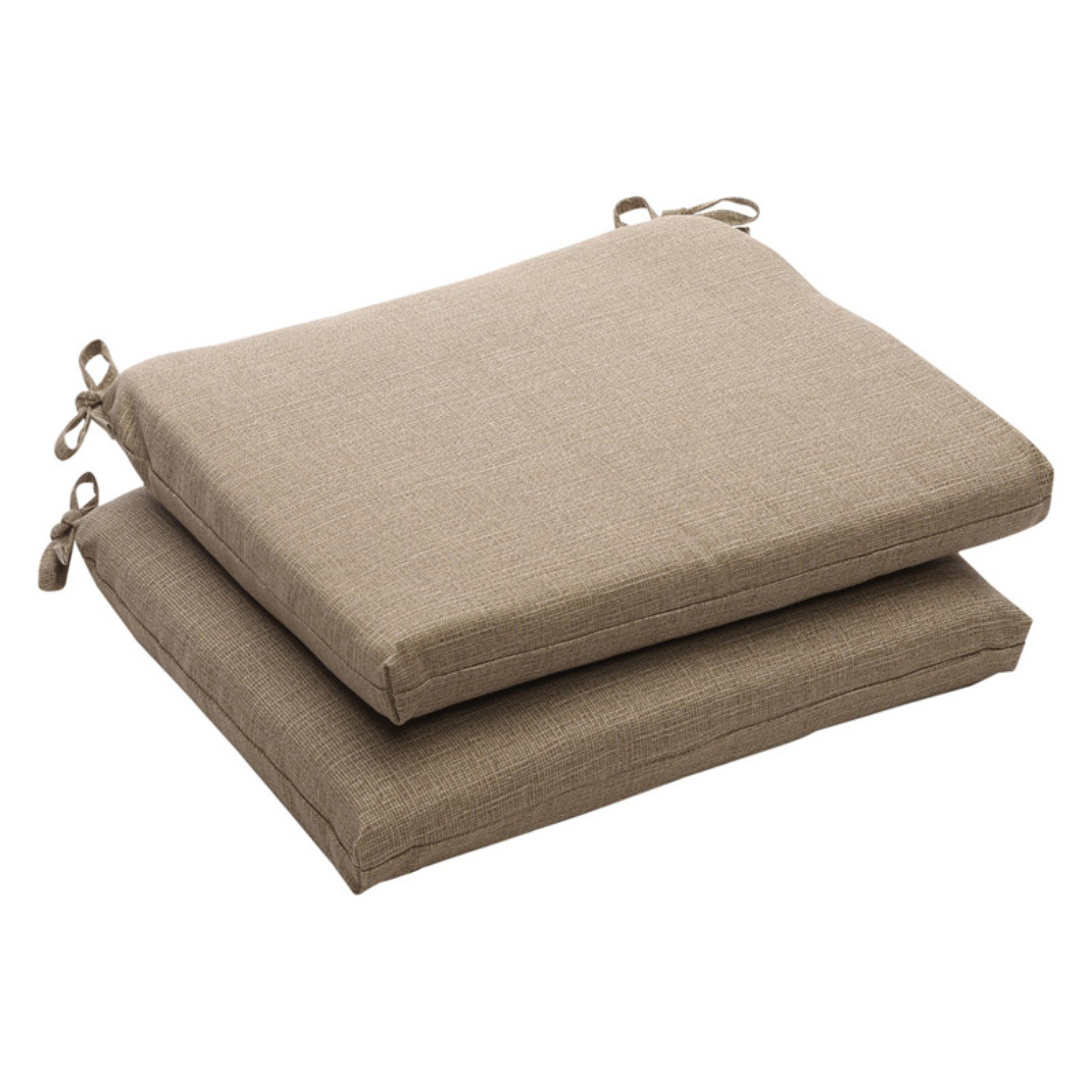 Pillow Perfect Outdoor Textured Solid Seat Cushion - 18.5 x 16 x 3 in. -