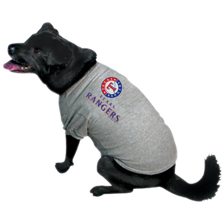 the best attitude f28ae b540c Texas Rangers Dog Tee Shirt - Large - Walmart.com