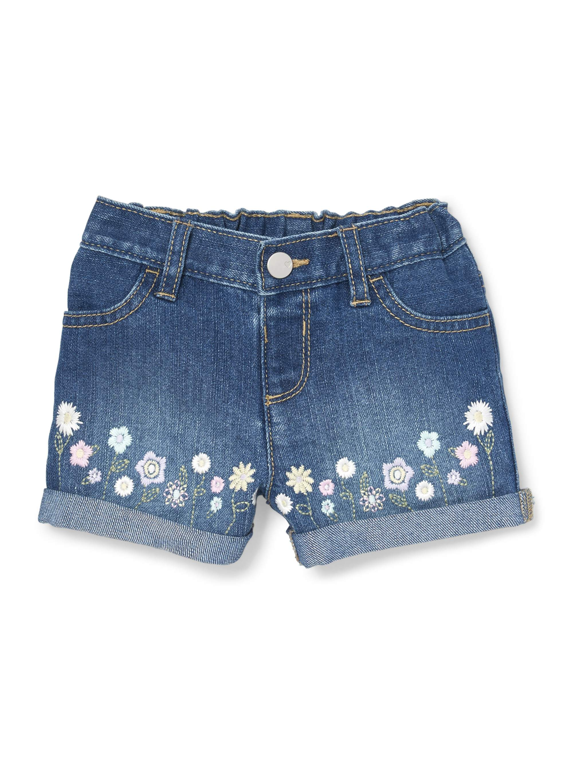 Floral Embroidered Short (Baby Girls & Toddler Girls)
