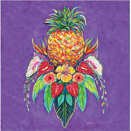 Thirstystone Occasions Drink Coasters, Set, Welcome Pineapple I