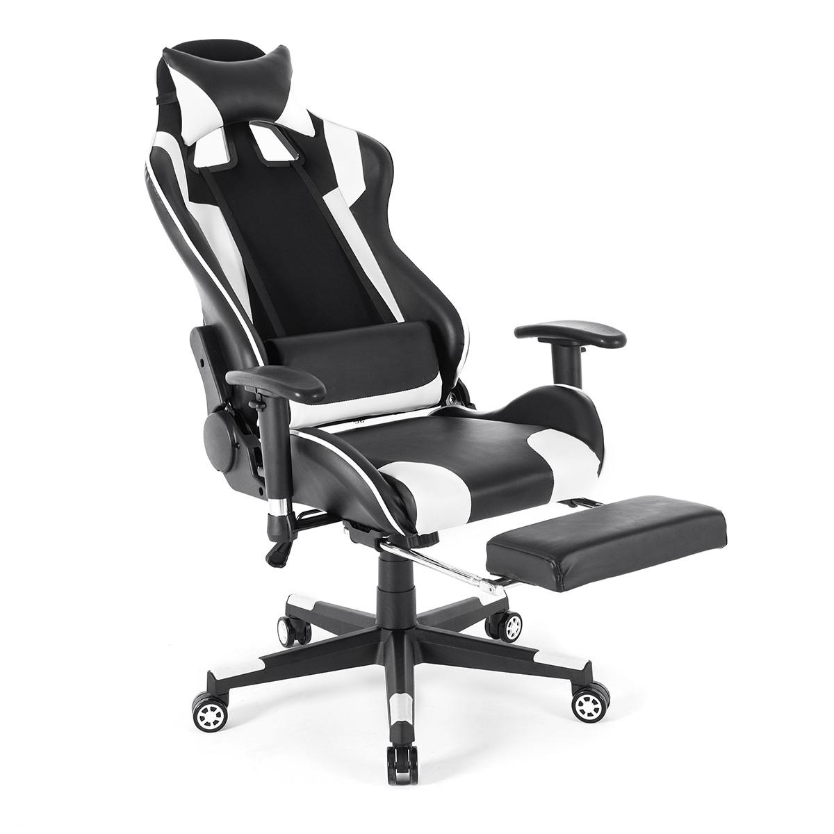 Stylish Gaming Chair High Back Racing Recliner Office Chair with Headrest  Pillow and Lumbar Support Cushion - Walmart.com