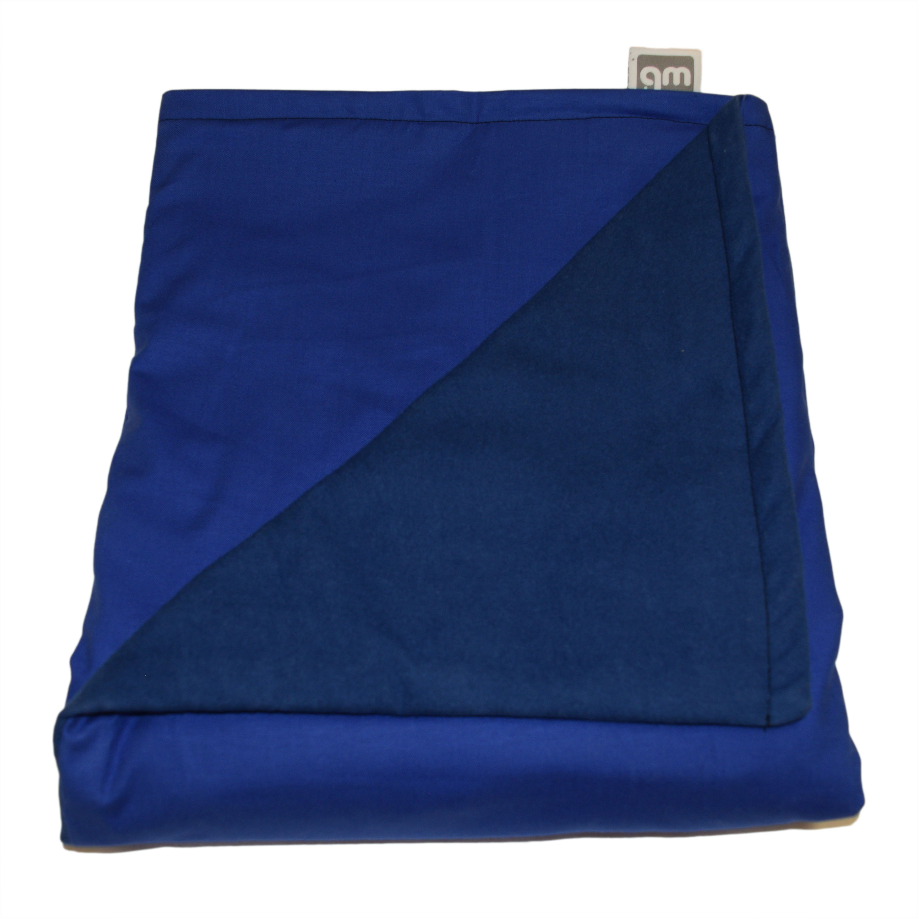 "WEIGHTED BLANKETS PLUS LLC - ADULT EXTRA LARGE WEIGHTED BLANKET - BLUE - COTTON/FLANNEL (80""L x 58""W) 21lb LOW PRESSURE."