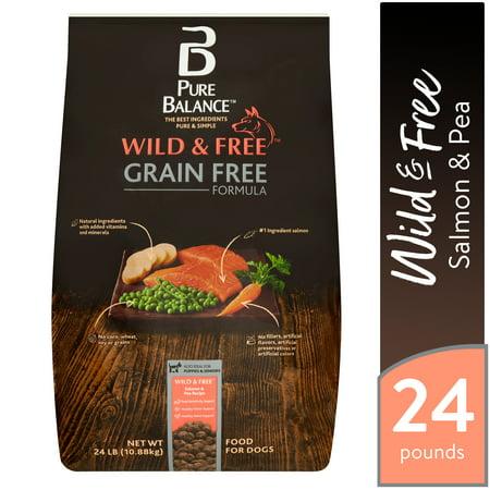 Pure Balance Wild & Free Grain Free Formula Salmon & Pea Recipe Food for Dogs, 24 lb (Call Wild Dog Food)