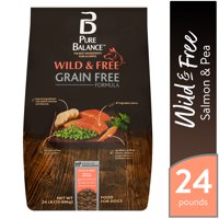 Pure Balance Wild & Free Grain Free Formula Salmon & Pea Recipe Food for Dogs, 24 lb