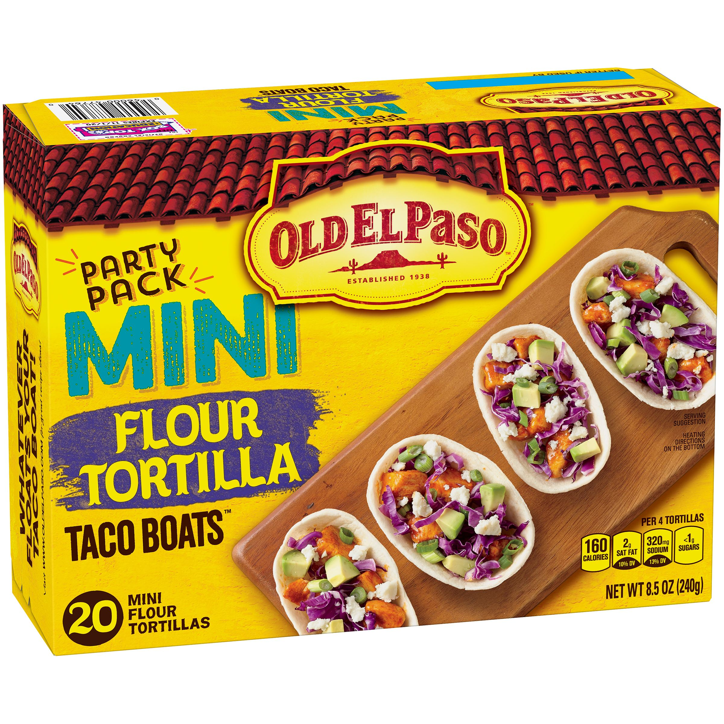 Old El Paso Mini Tortilla Taco Boats, 20 Count by General Mills Sales, Inc.