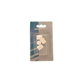 4-Pack,Case of 6 Shepherd Hardware 9205 1//2-Inch Hi-Vinyl Leg Tips