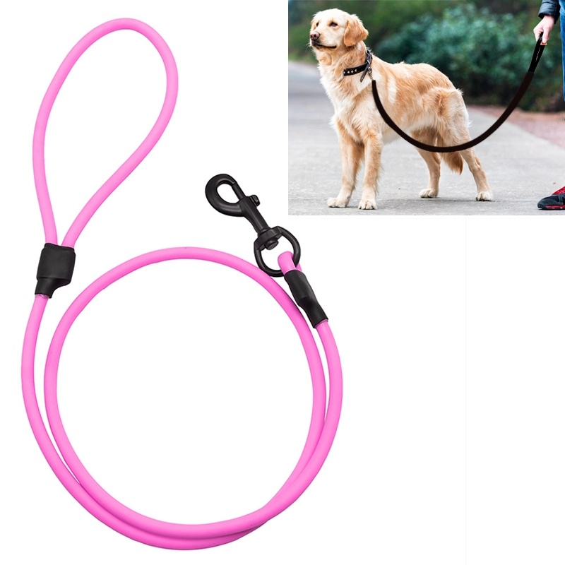 PVC Material Wear-resistant Waterproof Traction Belt Pet Dogs Traction Rope with Handle, Suitable For Medium and Large Dogs, Rope Length: 150 cm - Purple
