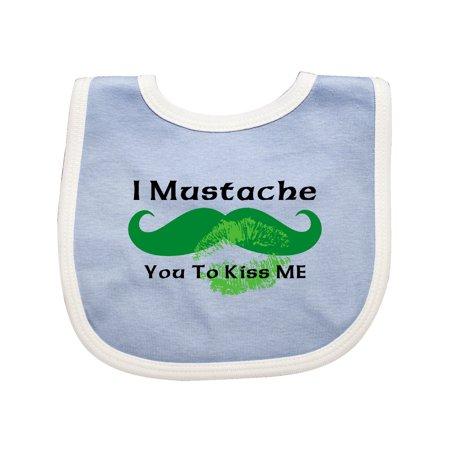 Mustache Irish Kiss Baby Bib