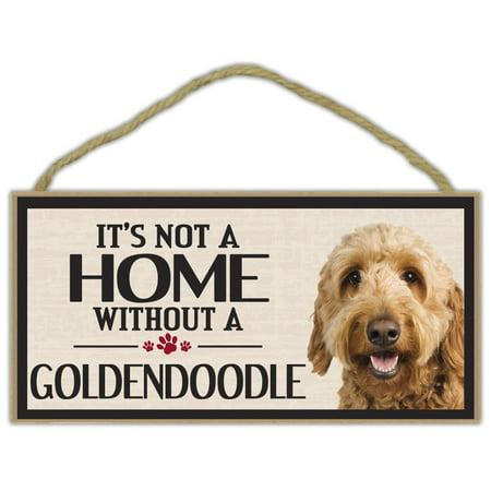 Golden Retriever Star (Wood Sign: It's Not A Home Without A GOLDENDOODLE (GOLDEN RETRIEVER POODLE))