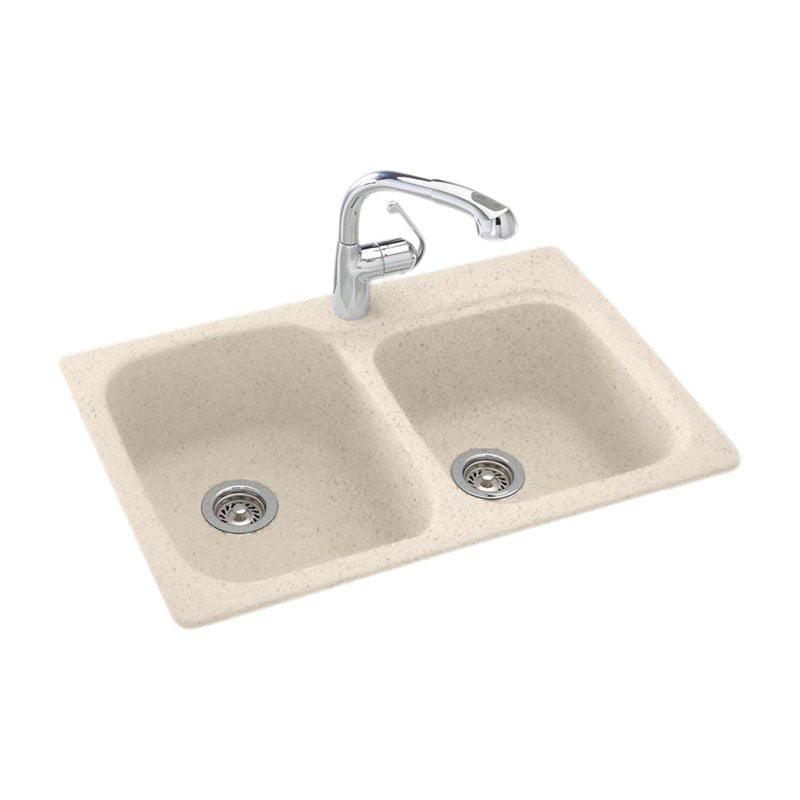 Swan Ksdb 3322 010 33 X 22 Swanstone Double Basin Dual Mount Kitchen Sink Available In Various Colors Walmart Com Walmart Com