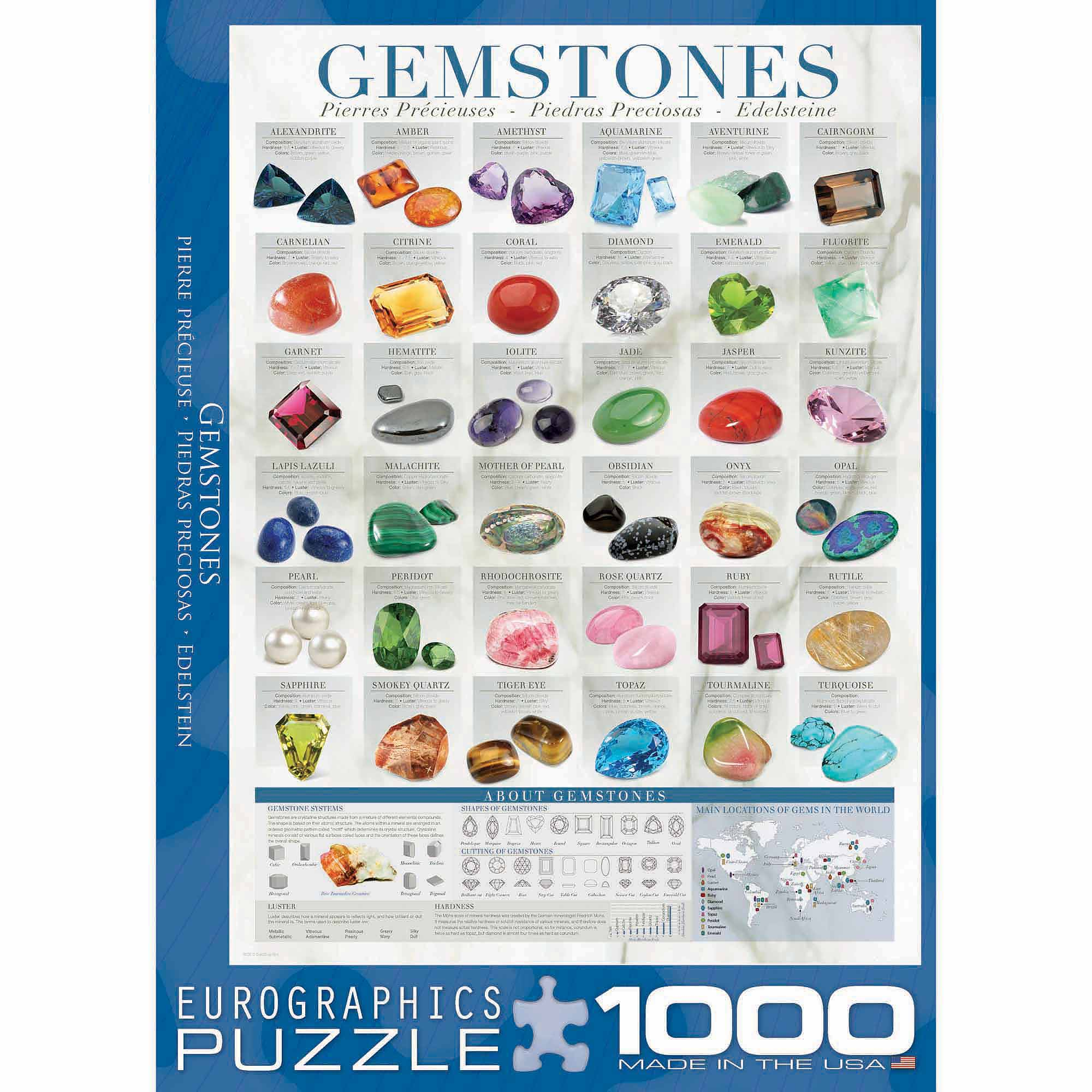 EuroGraphics Gemstones 1000-Piece Puzzle