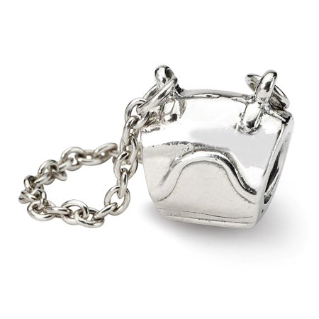 Solid 925 Sterling Silver Reflections Handbag Bead (18.2mm x 10mm)