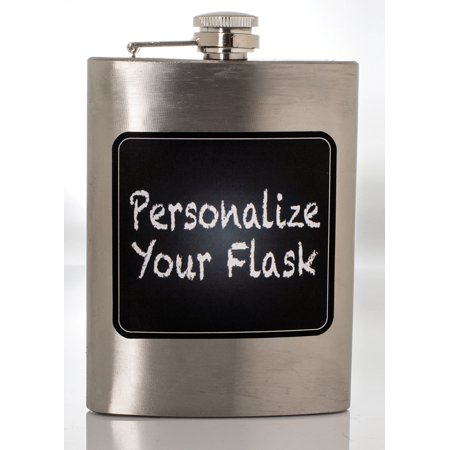 (8 Oz Stainless Steel Liquor Hip Flask with Chalkboard Front Novelty Flask)
