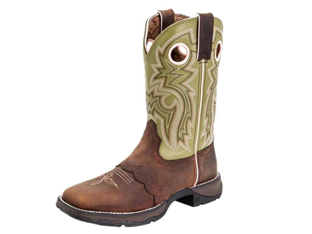 "Durango Western Boot Womens 10"" Rebel Saddle Rocker Meadow Lace RD3573 by Durango"