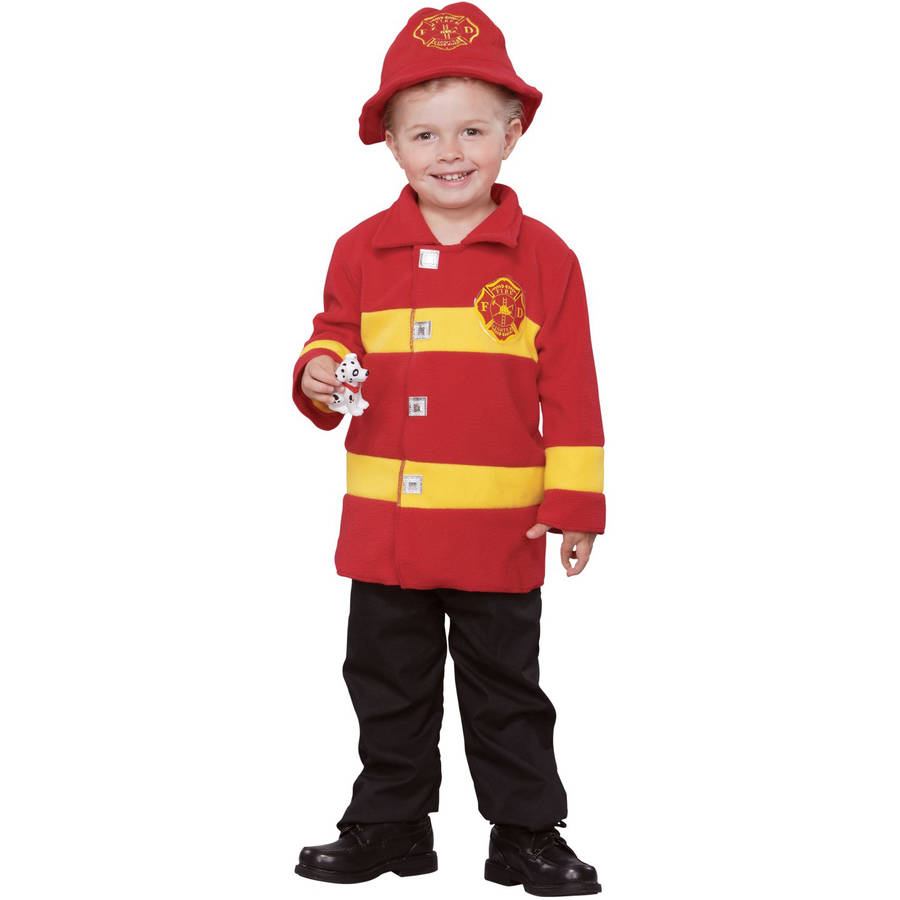 Brave Firefighter Toddler Halloween Costume, Size 3T-4T
