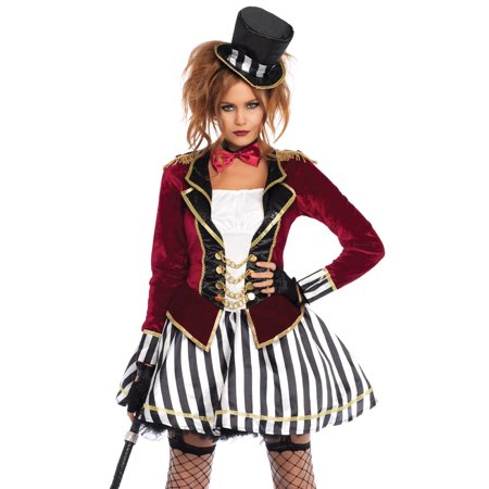 Ringmaster Baby Costume (Leg Avenue Women's 3 PC Ringmaster Costume, Multi,)
