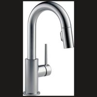 Delta Trinsic: Single Handle Pull-Down Bar/Prep Kitchen Limited Swivel