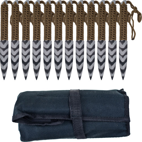 Whetstone Cutlery Stripeger Kunai Throwing Knives, Set of 12
