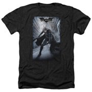 Dark Knight Rises Crumbled Poster Mens Heather Shirt