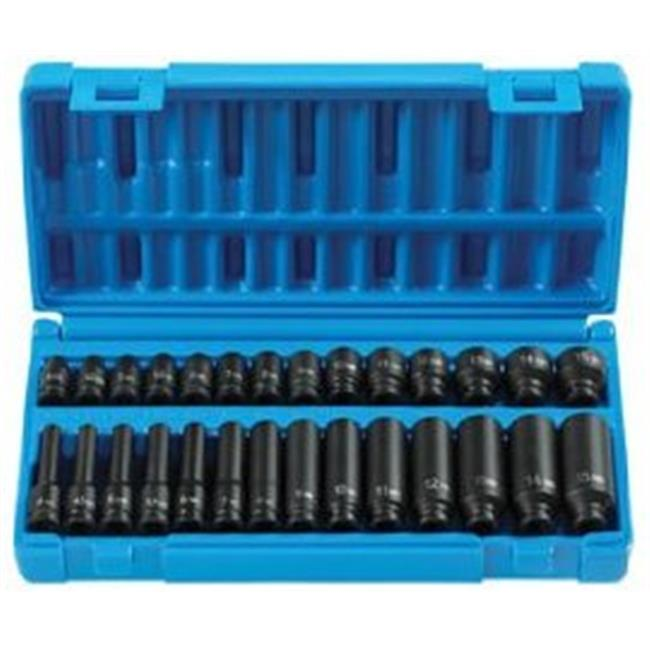 GRY-9728M Grey Pneumatic Deep Length Metric Master Set - 0.25 in.
