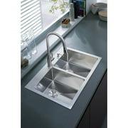 Stufurhome 33'' x 22'' Overmount Kitchen Sink
