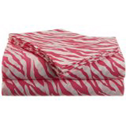 Jungle Love Zebra Stripe Polyester Microfiber Sheet Set